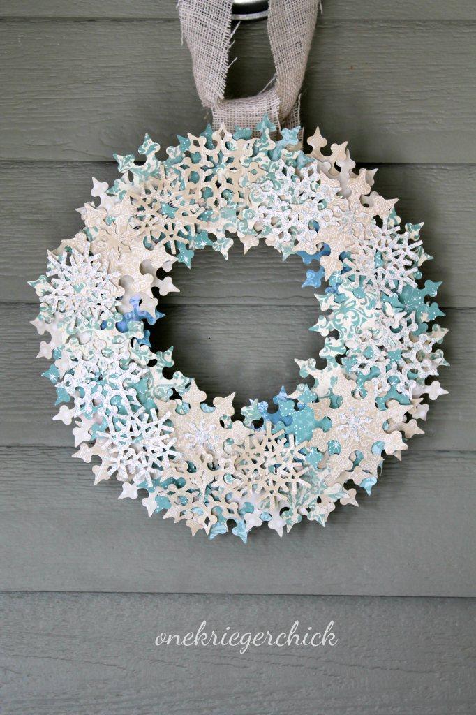 corona de copos de nieve