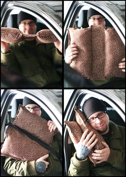 Almohada para el coche
