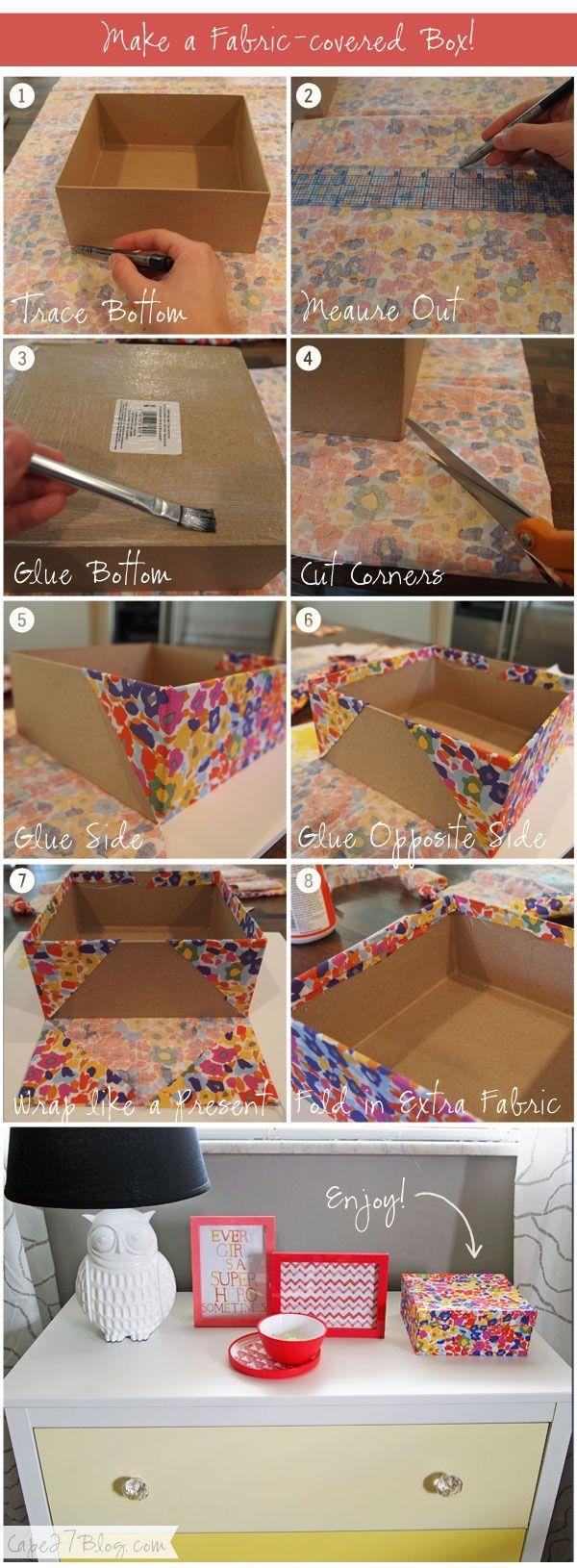 El taller de bielisa forrar una caja con tela - Forrar cajas de carton con telas ...