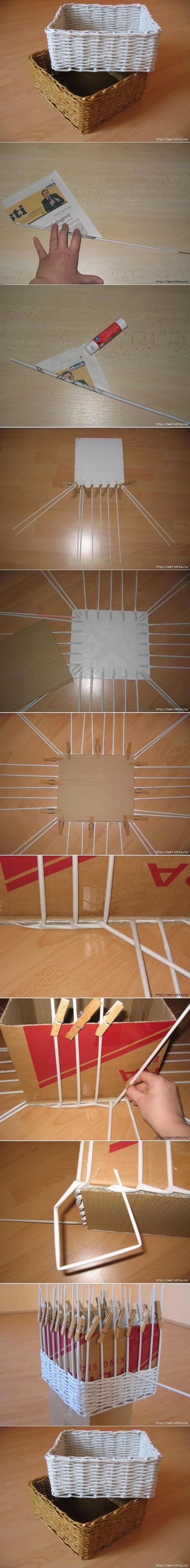 El taller de bielisa cesta de papel de peri dico - Cestas de papel de periodico ...